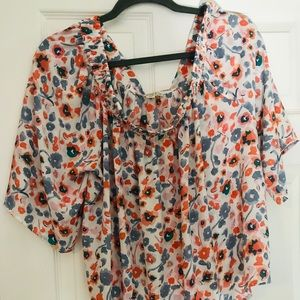 Eliane Rose Tops - Off the shoulder floral blouse